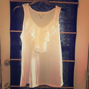 French Laundry white sparkly tank for summer!